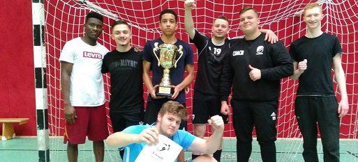 Hallenfußballturnier 2019 der Beruflichen Schulen Ahrensburg – der Schulmeister ist die Fl 1-18