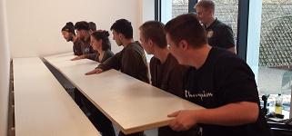 Möbelmanufaktur BS Ahrensburg stellt Pädagogische Sitzgelegenheit fertig